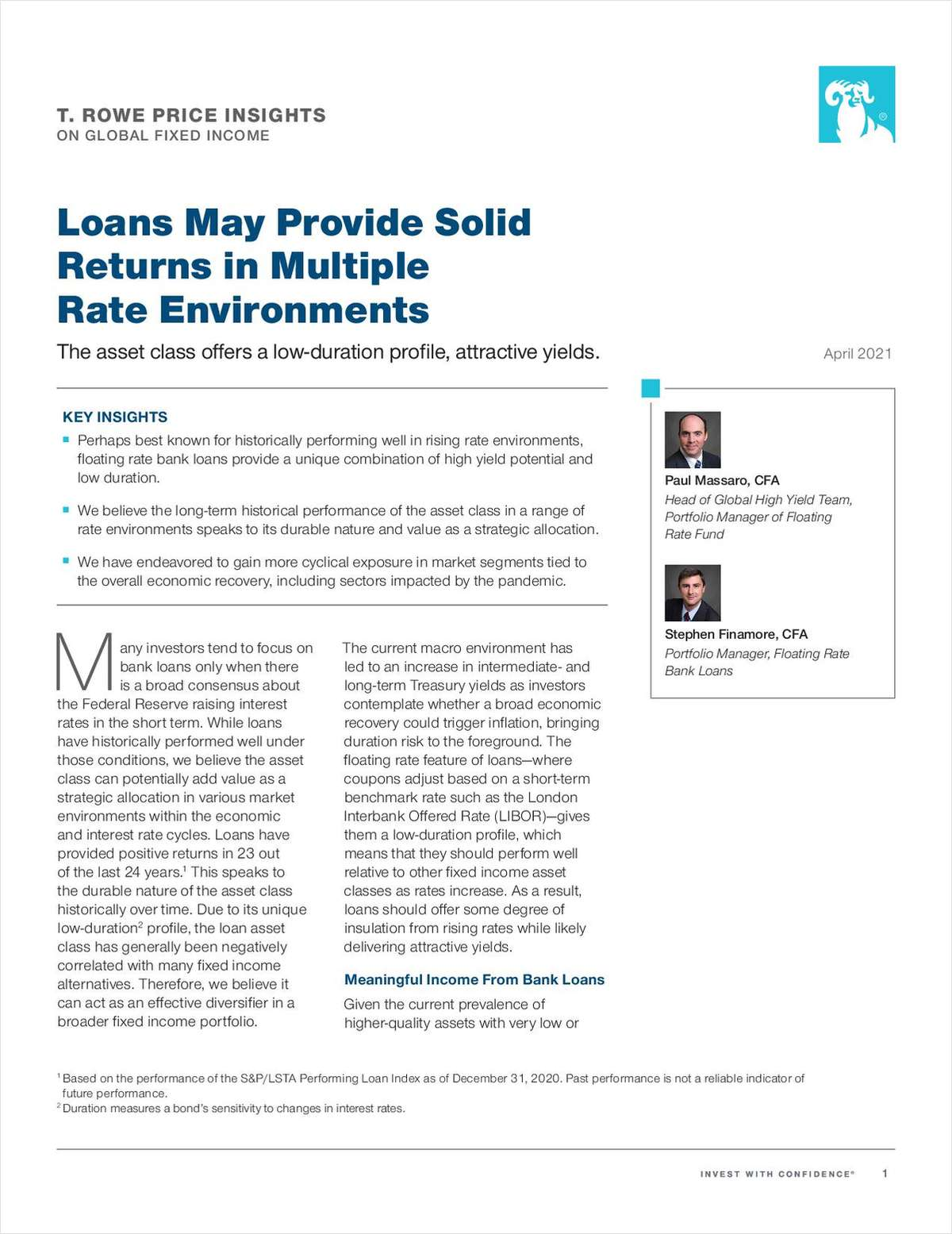 Loans May Provide Solid Returns in Multiple Rate Environments