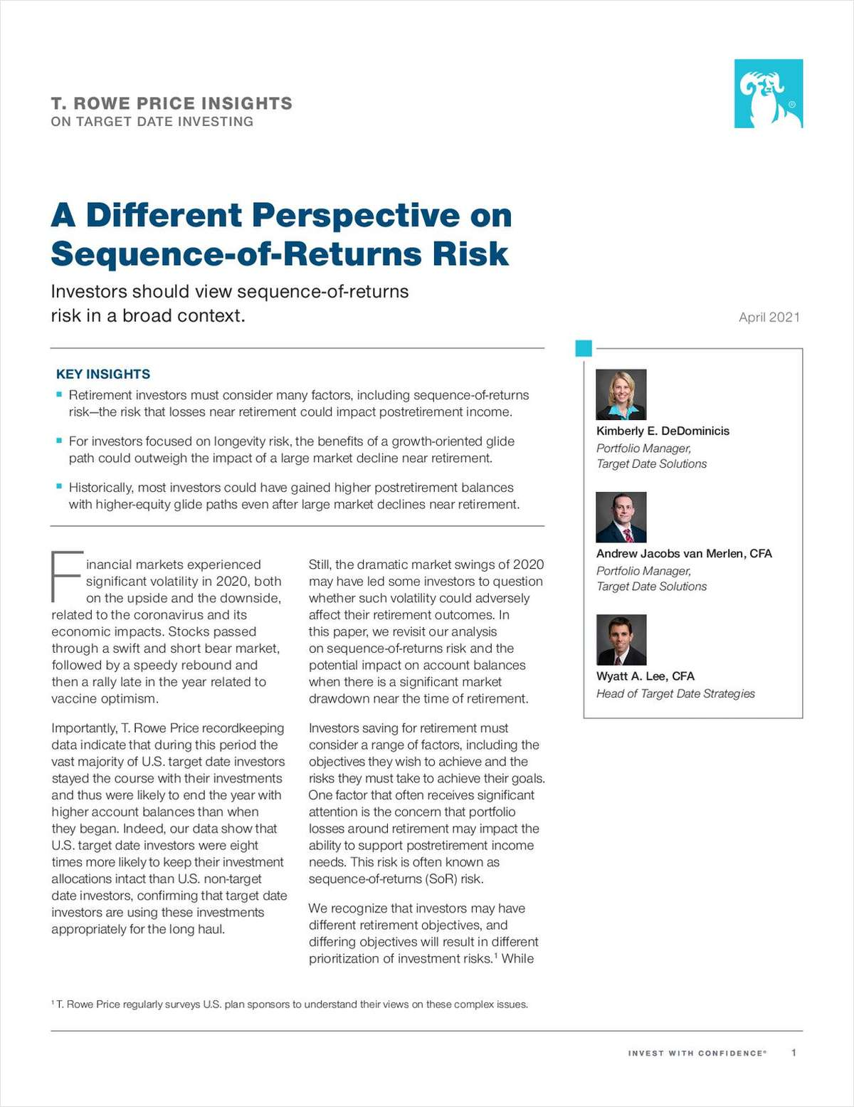 A Different Perspective on Sequence‑of‑Returns Risk