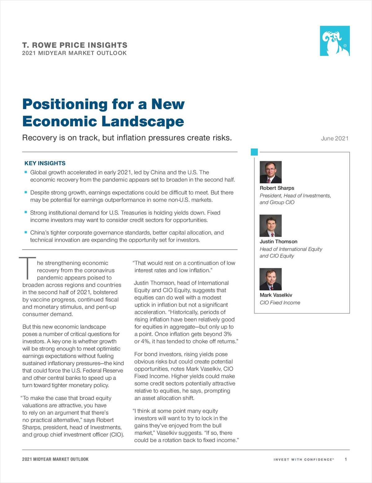 Positioning for a New Economic Landscape