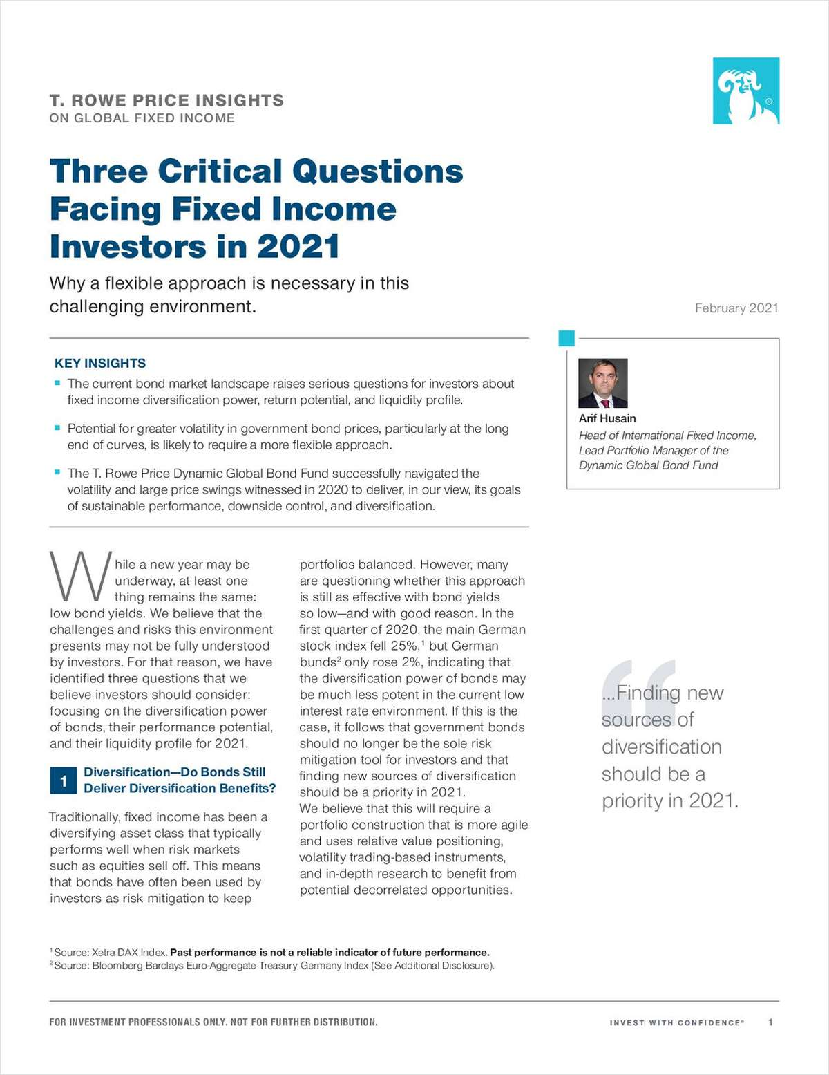 Three Critical Questions Facing Fixed Income Investors in 2021