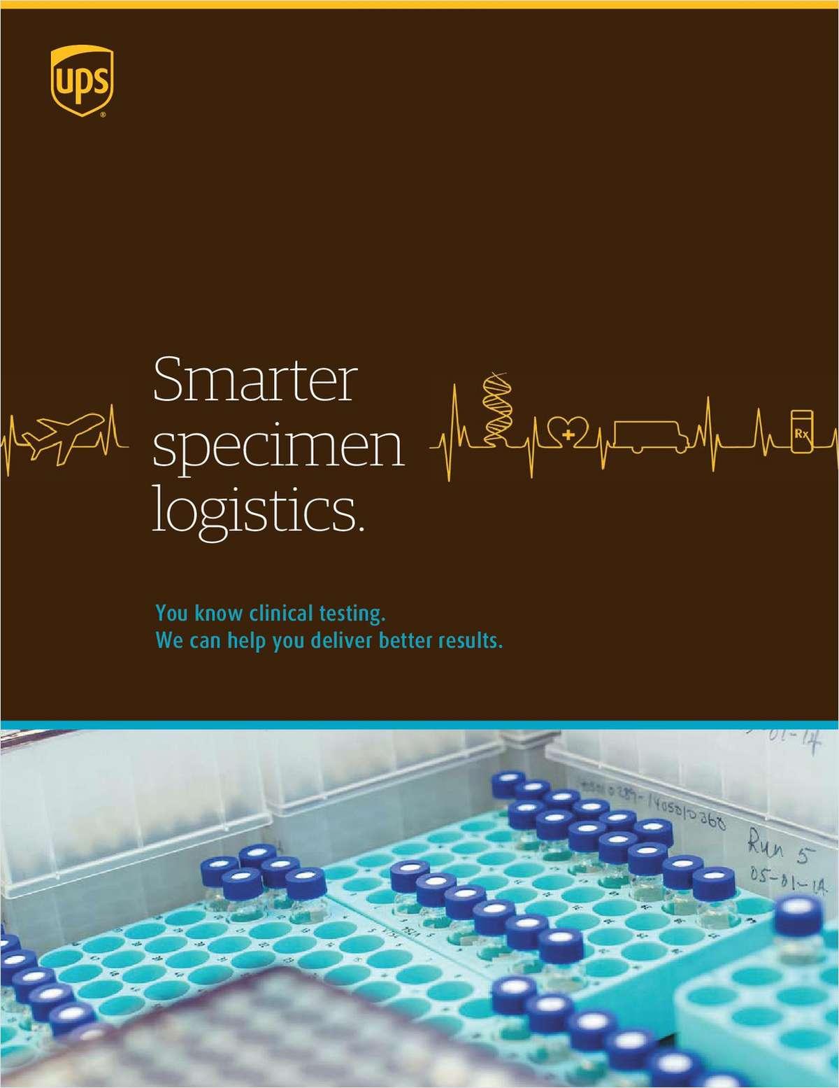 UPS Smarter Specimen Logistics, Free UPS White Paper