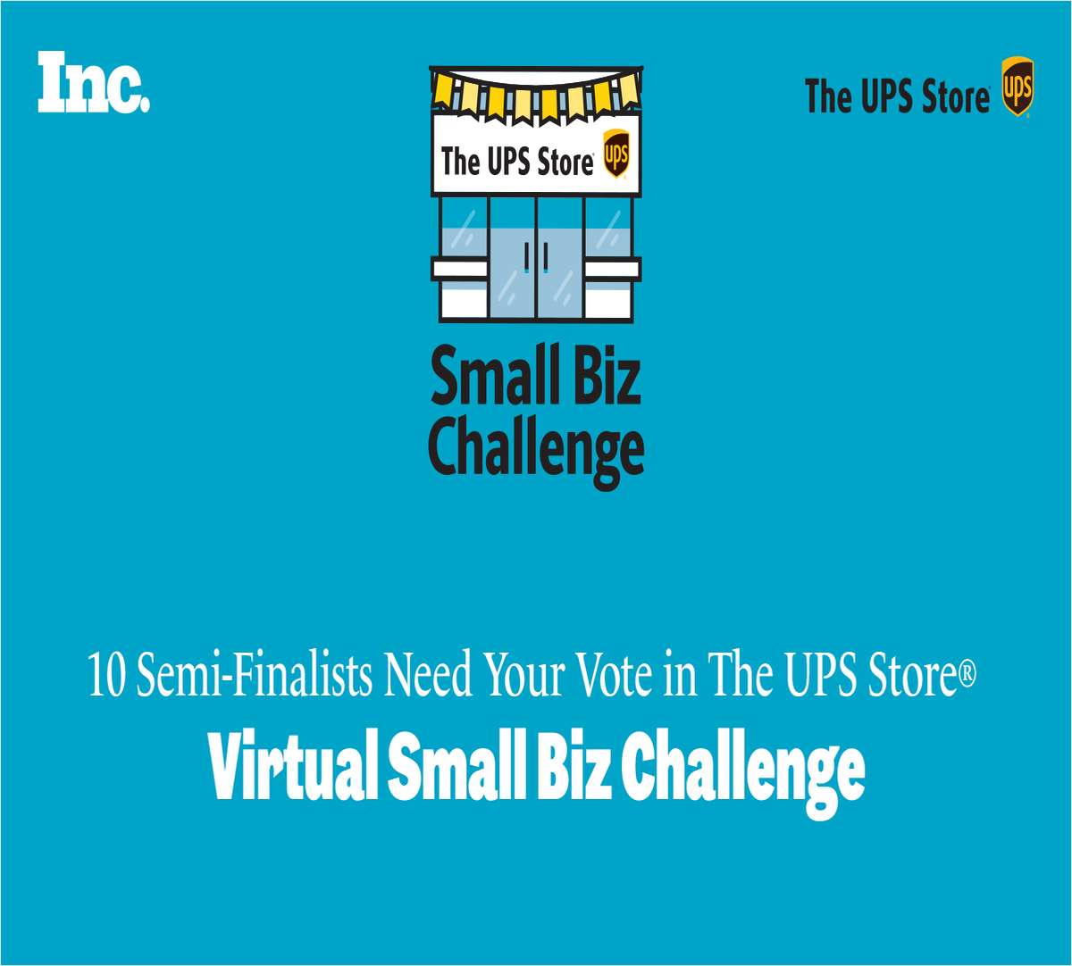 10 Semi-Finalists Need Your Vote in The UPS Store® 2021 Virtual Small Biz Challenge.