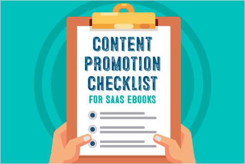 Content Promotion Checklist for B2B SaaS eBooks