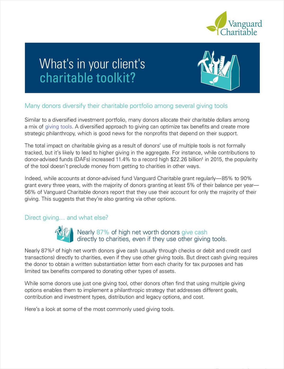 What's in Your Client's Charitable Toolkit?
