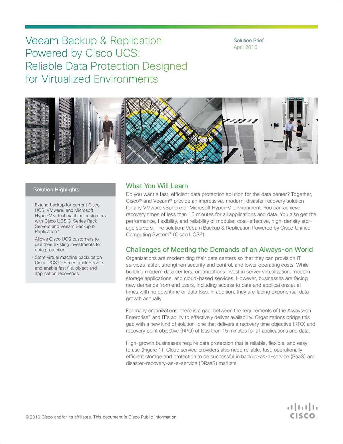Veeam Backup & Replication Powered by Cisco UCS: Reliable Data Protection Designed for Virtualized Environments