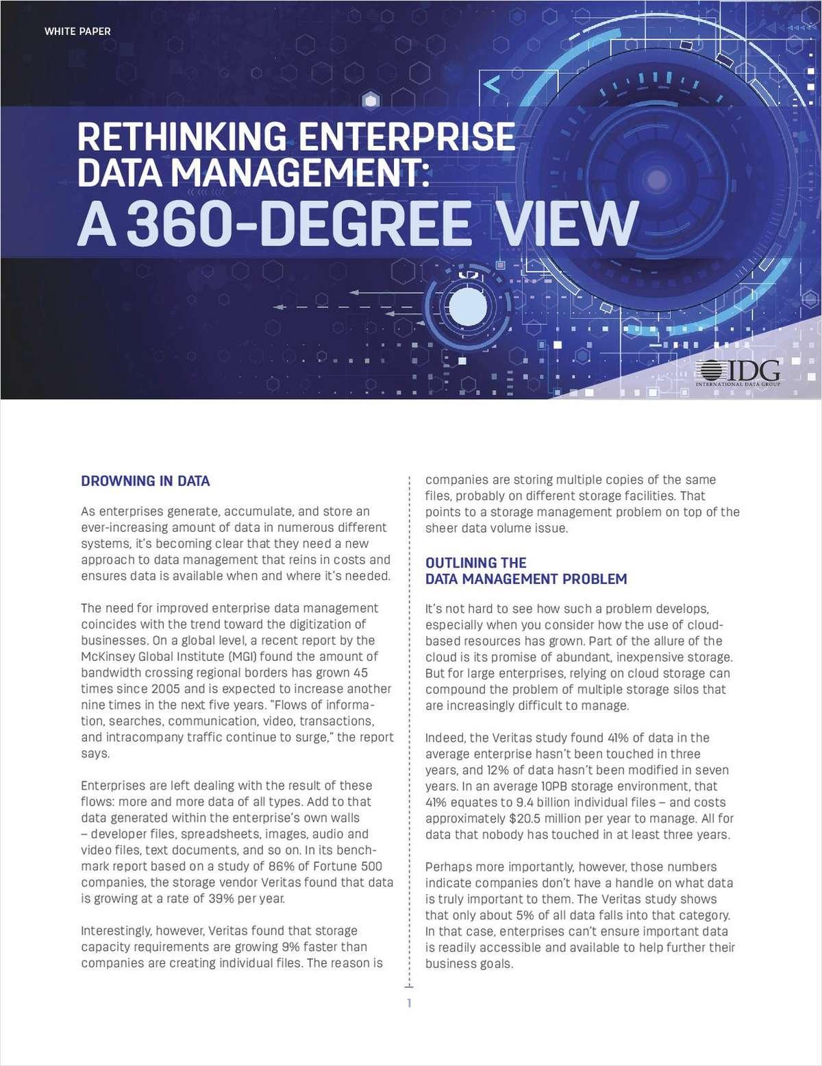 Rethinking Enterprise Data Management: A 360-Degree View