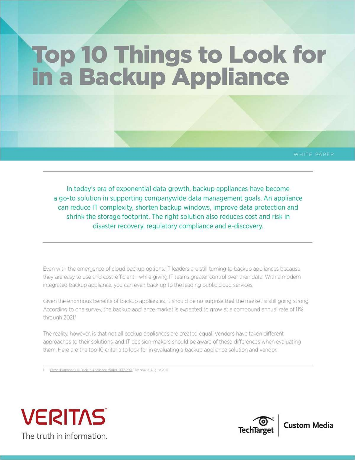 Top 10 Things to Look for in a Backup Appliance