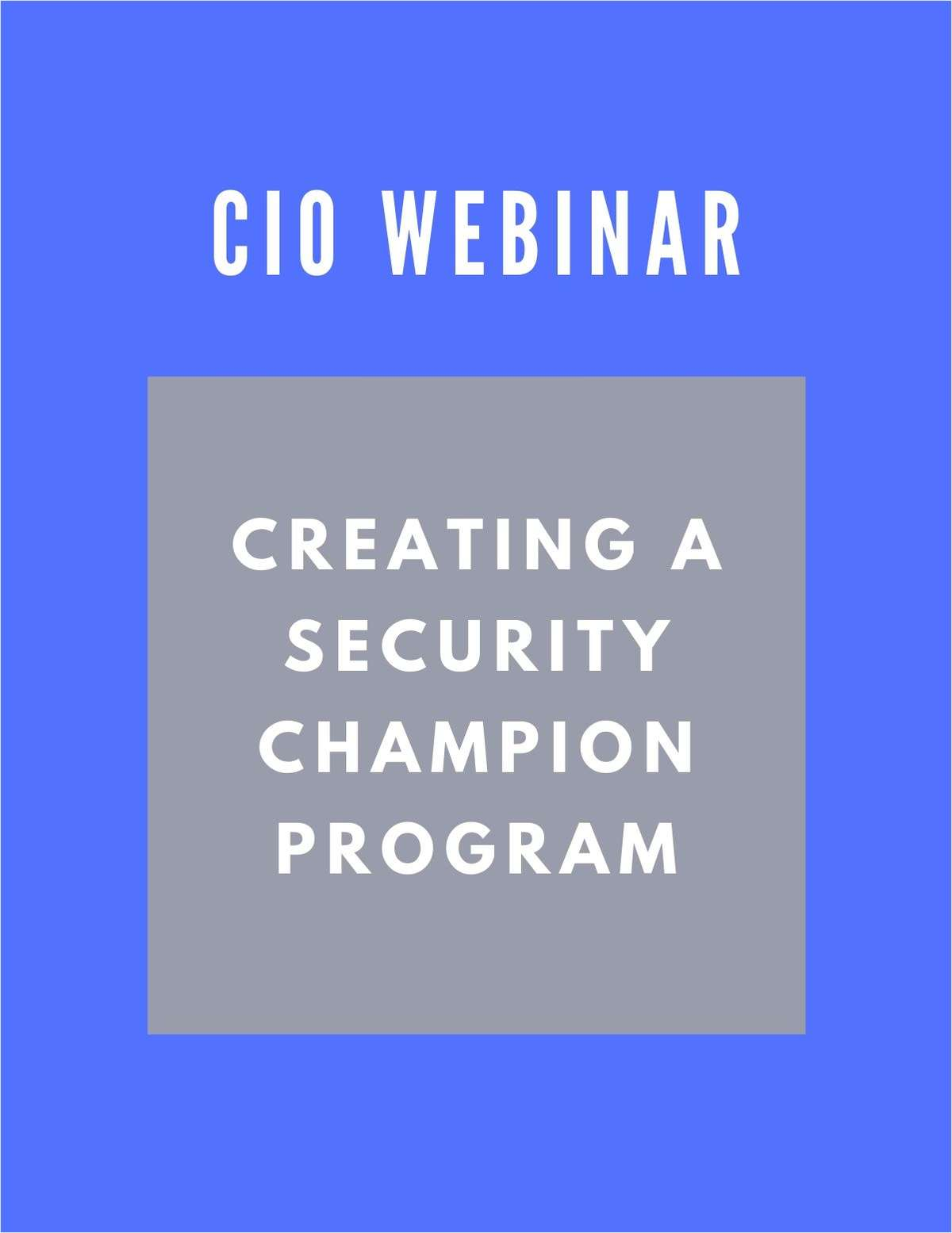 Creating a Security Champion Program