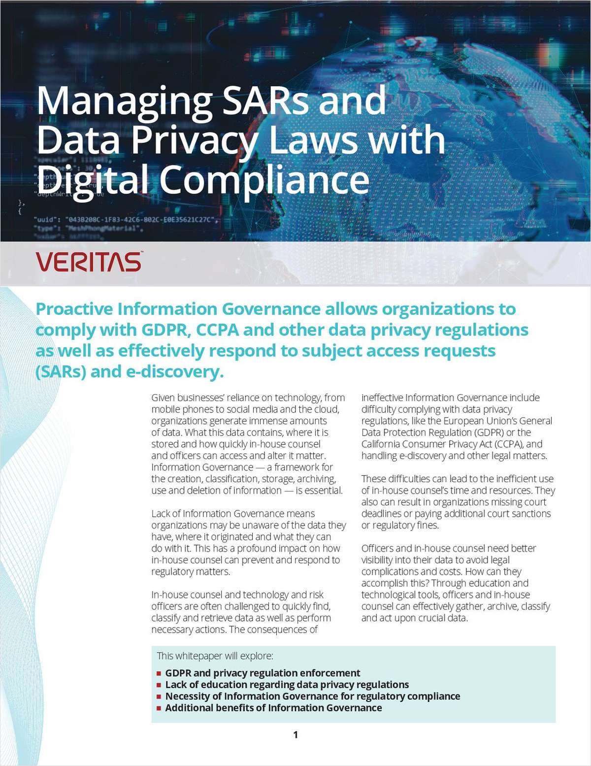 Managing SARs and Data Privacy Laws with Digital Compliance