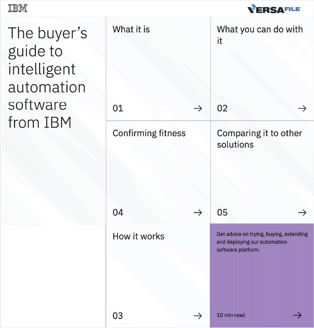 The buyer's guide to intelligent automation software from IBM