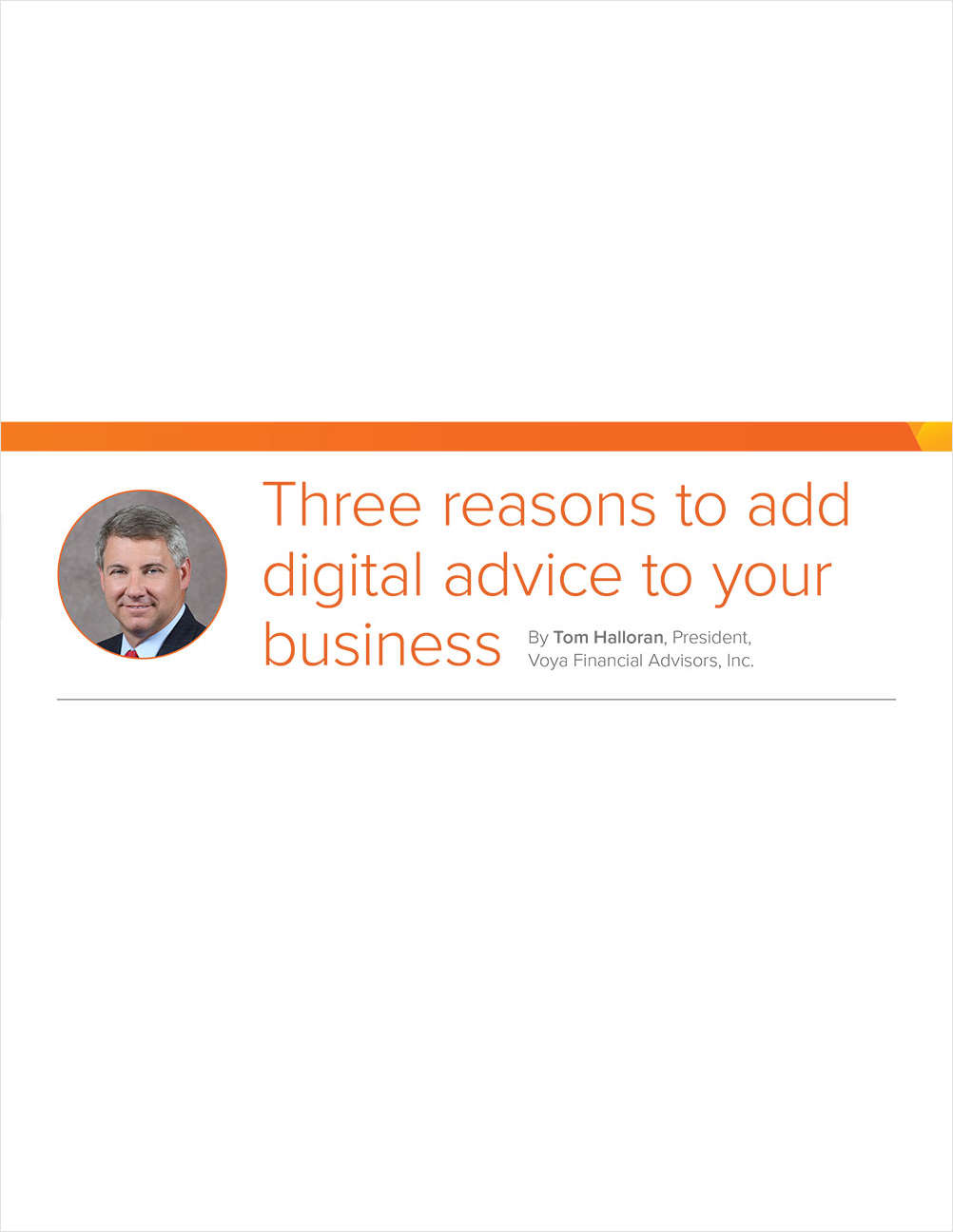 Three reasons to add digital advice to your business