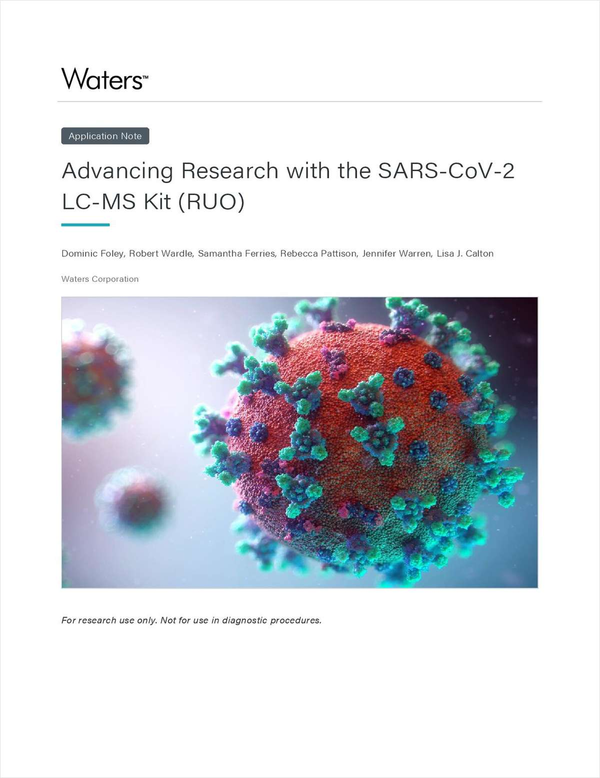 Advancing Research with the SARS-CoV-2 LC-MS Kit (RUO)