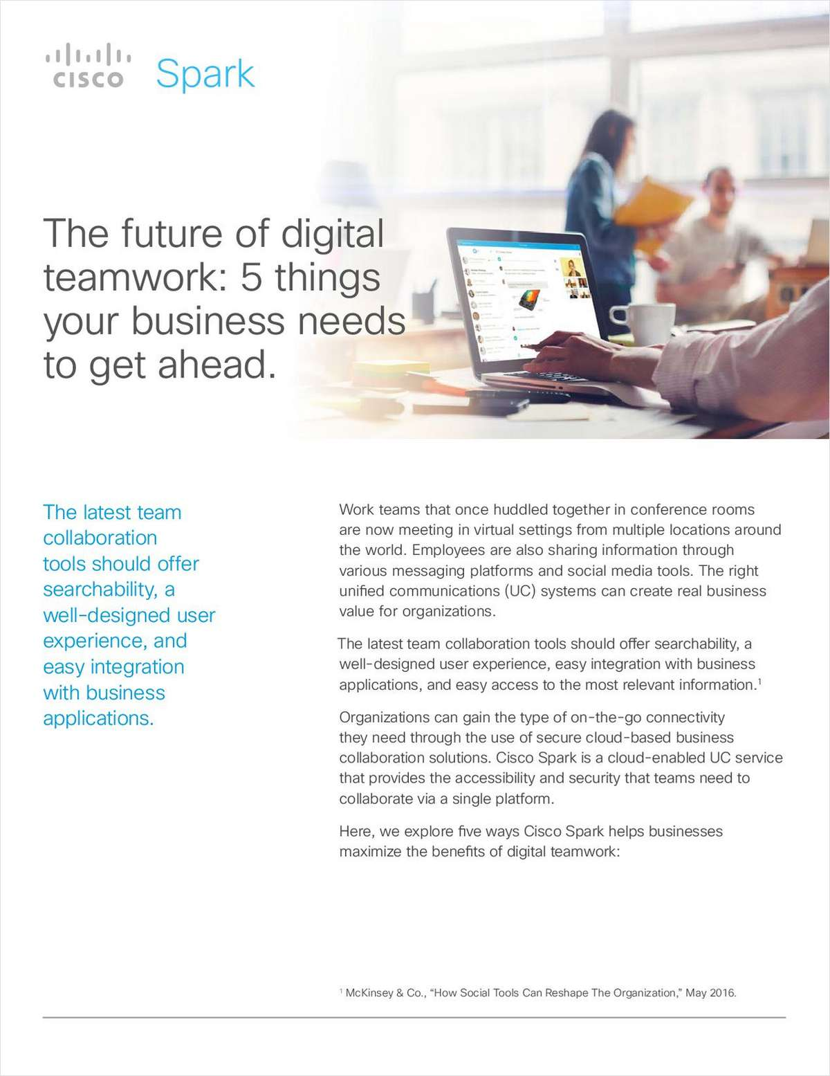 The Future of Digital Teamwork: 5 Things Your Business Needs To Get Ahead