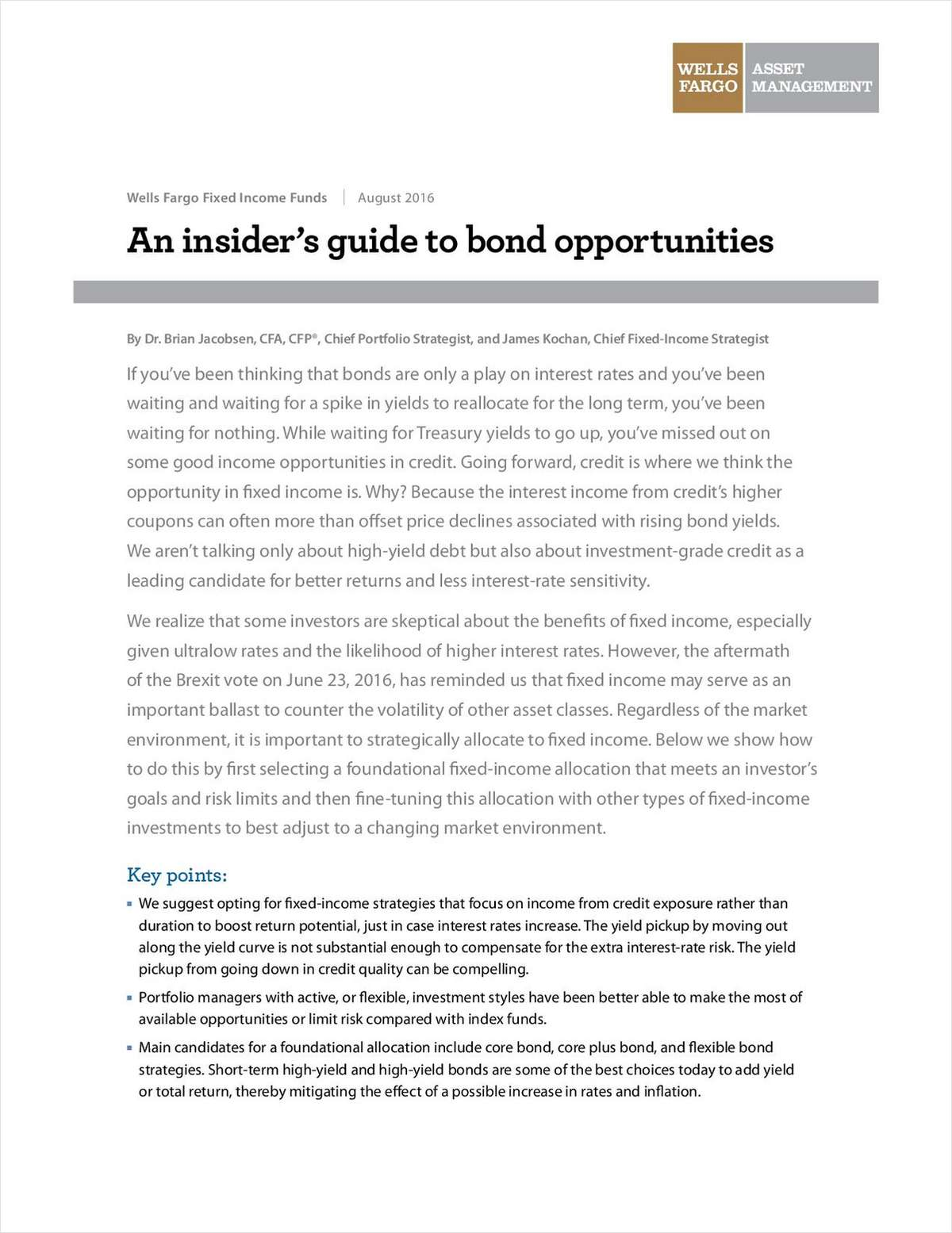 An Insider's Guide to Bond Opportunities