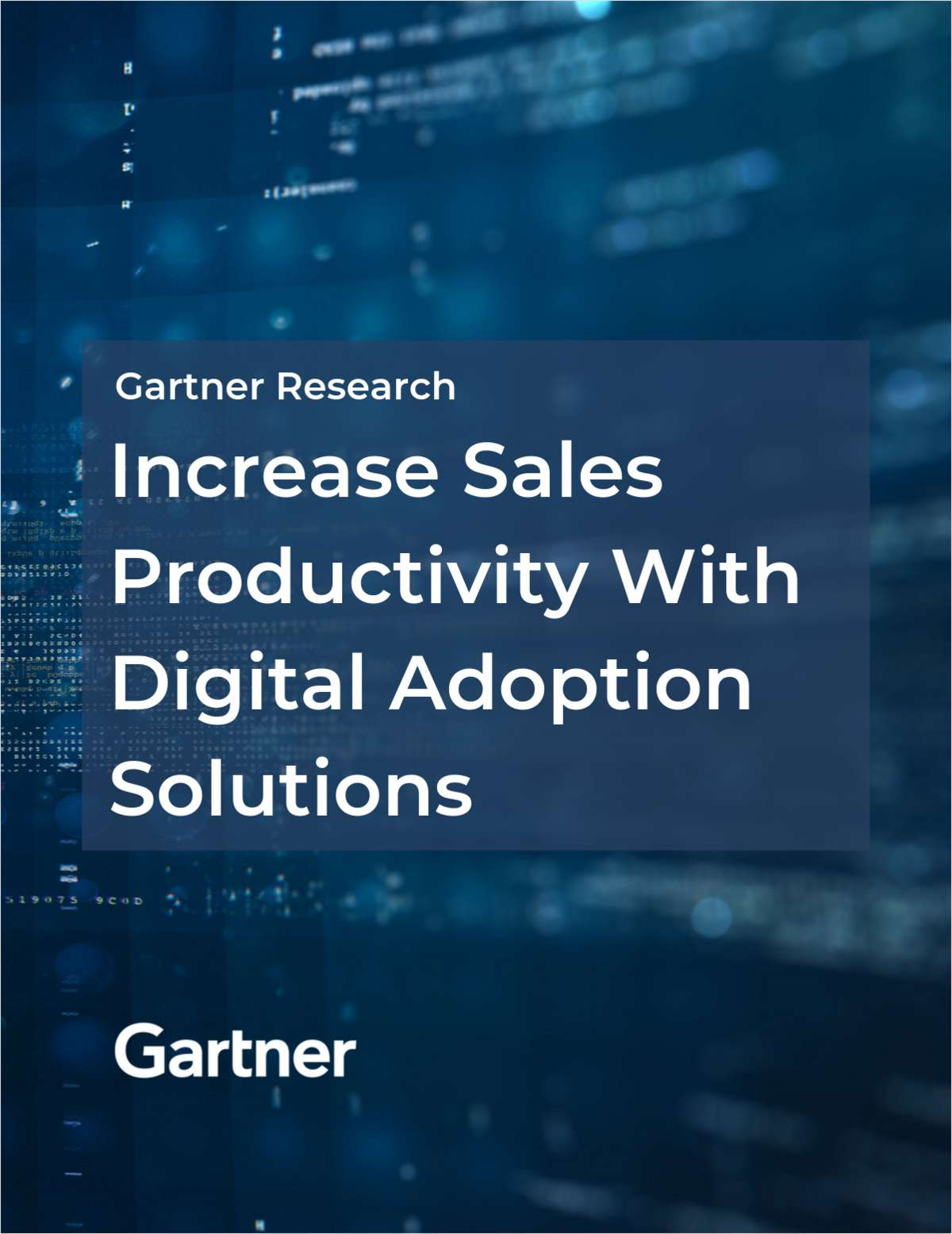 Gartner Research: Increase Sales Productivity with Digital Adoption Solutions
