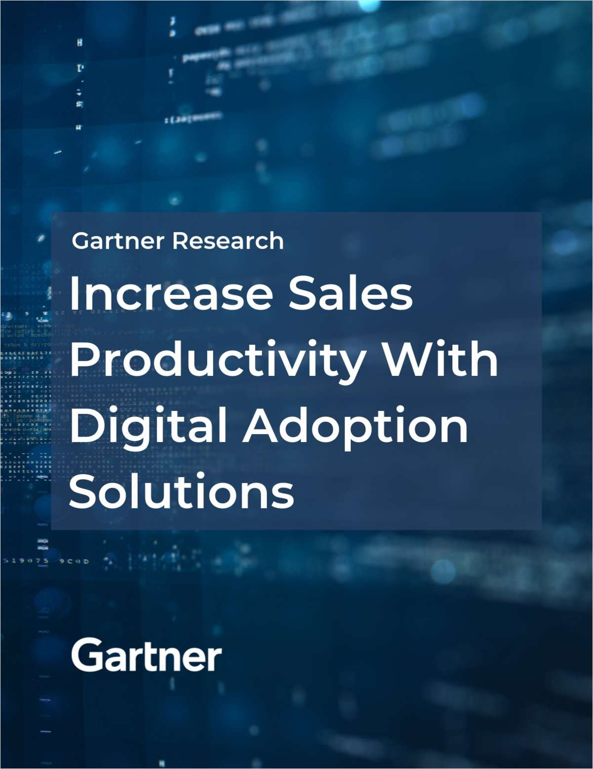 How Digital Adoption Solutions Can Increase Sales Productivity- A Gartner Report