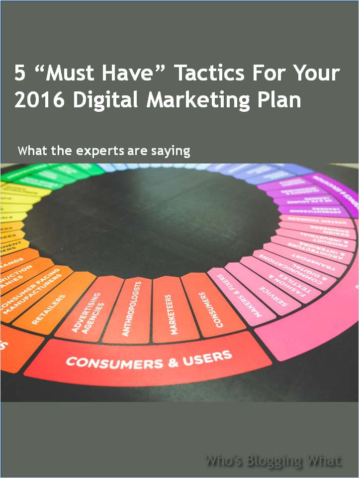 5 'Must Have' Tactics For Your 2016 Digital Marketing Plan