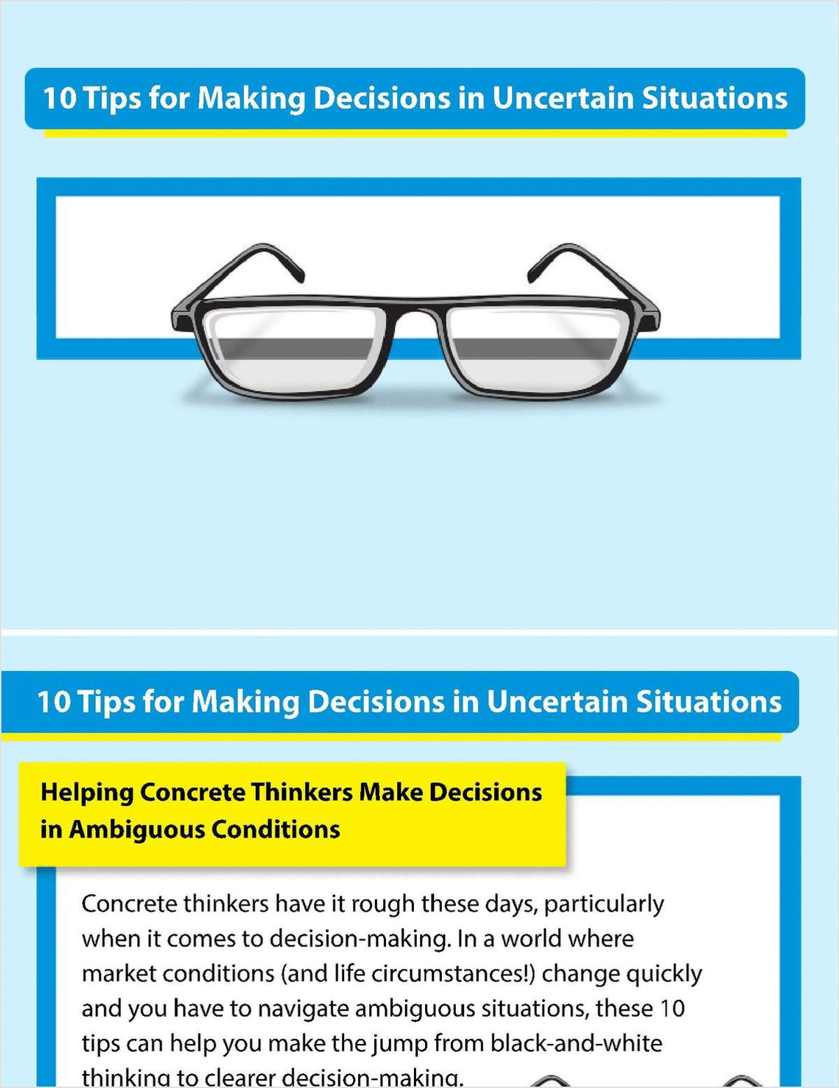 10 Tips for Making Decisions in Uncertain Situations