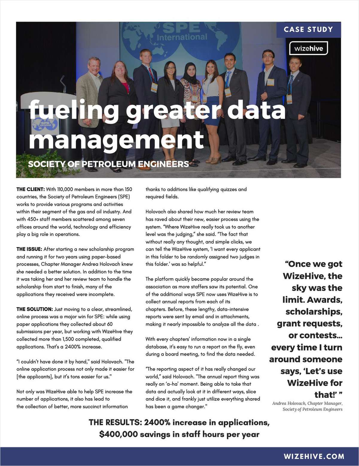 Fueling Greater Data Management