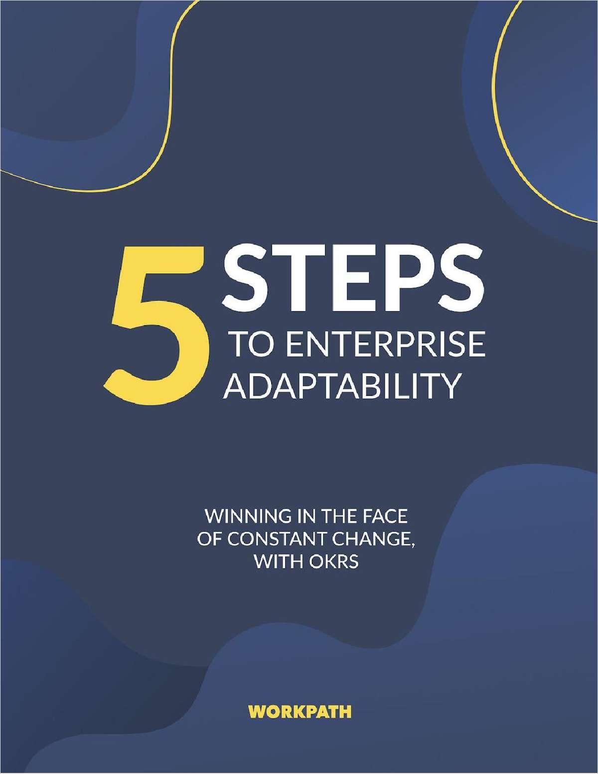 5 steps to enterprise adaptability