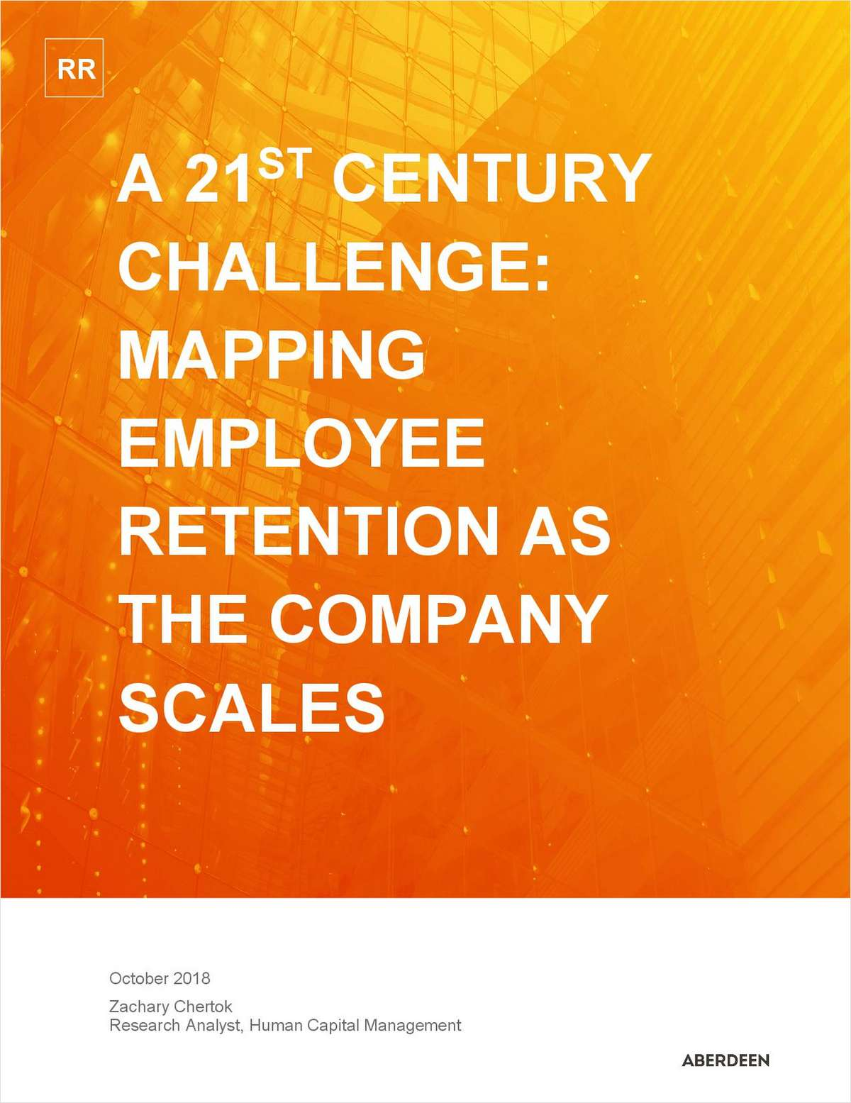 A 21st Century Challenge - Mapping Employee Retention as the Company Scales
