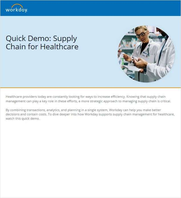 Quick Demo: Supply Chain for Healthcare