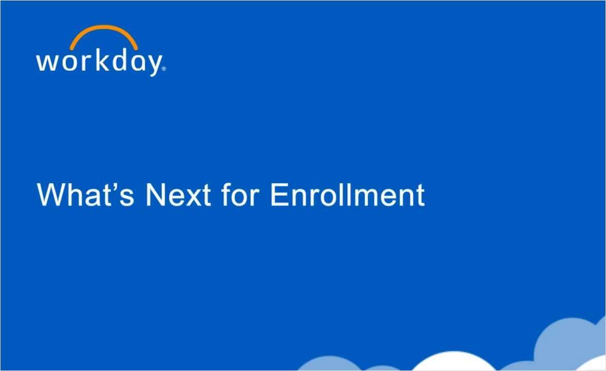 What's Next for Enrollment?