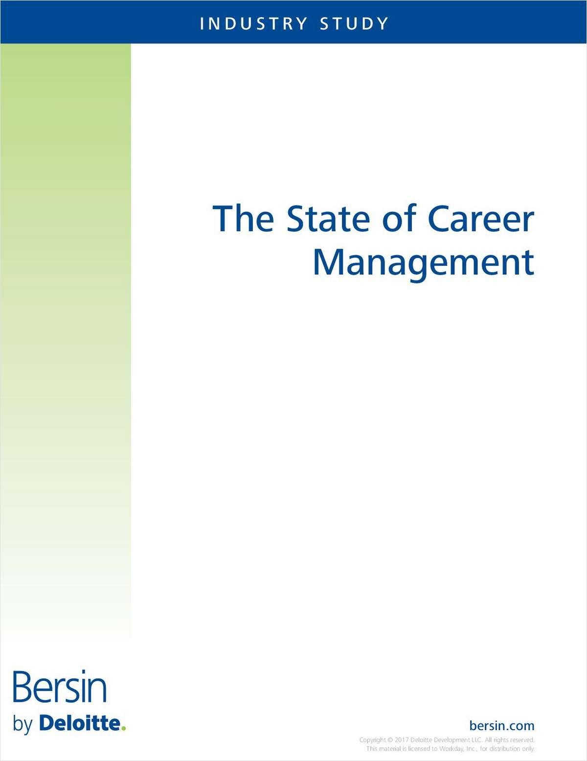 The State of Career Management