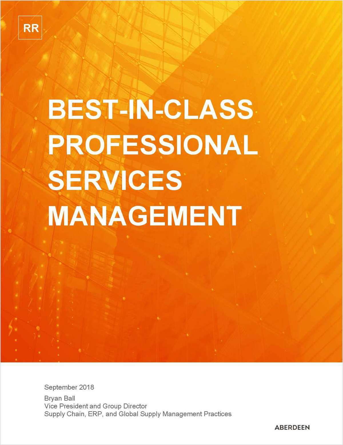 Aberdeen Research Report: Best-in-class Professional Services Management