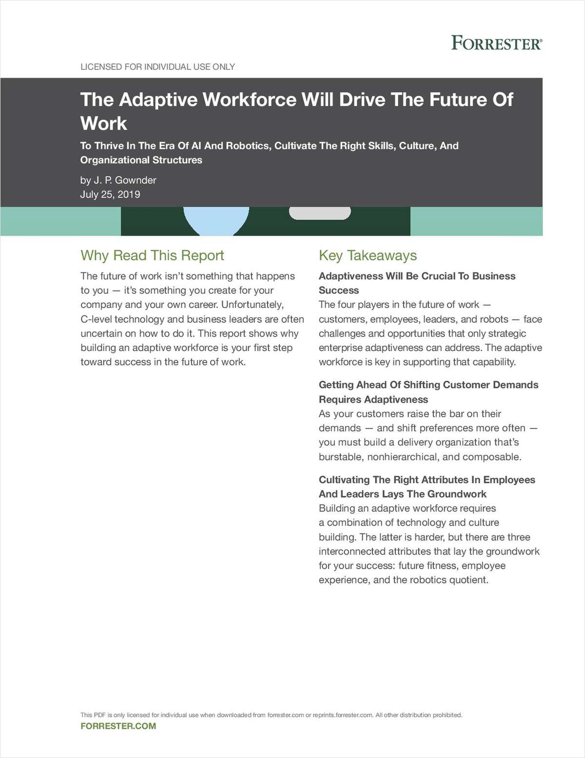 Forrester - The Adaptive Workforce Future of Work