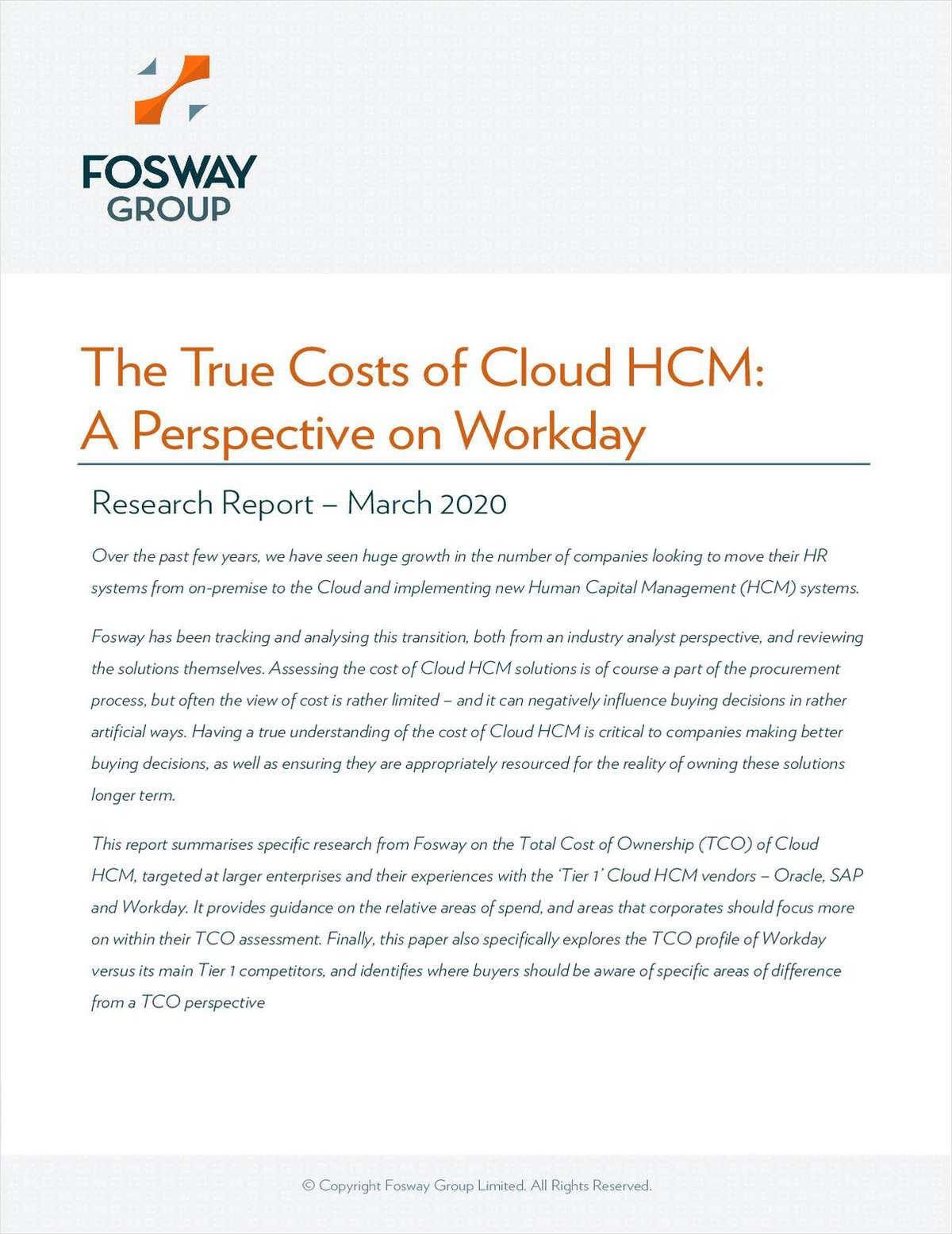 The True Costs of Cloud HCM - A Perspective on Workday