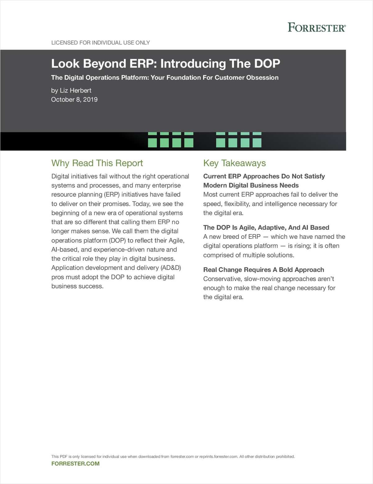 Forrester Look Beyond ERP