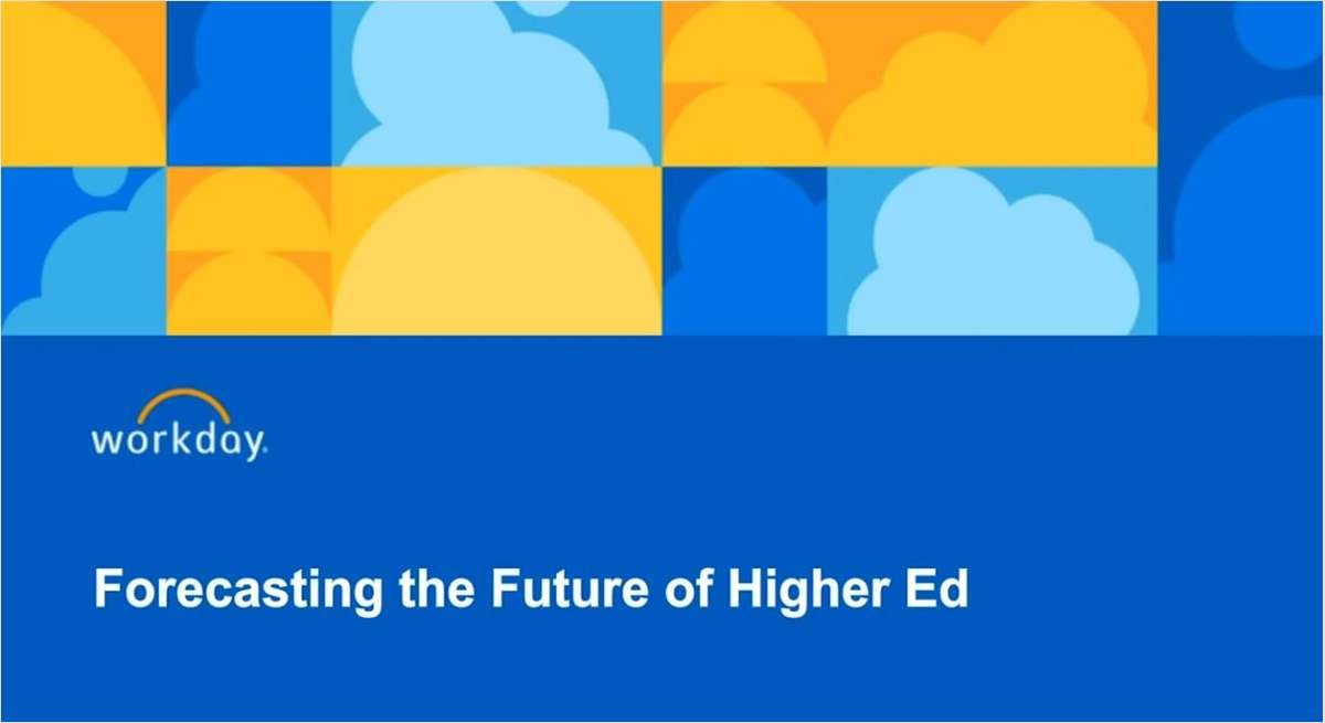Forecasting the Future of Higher Ed