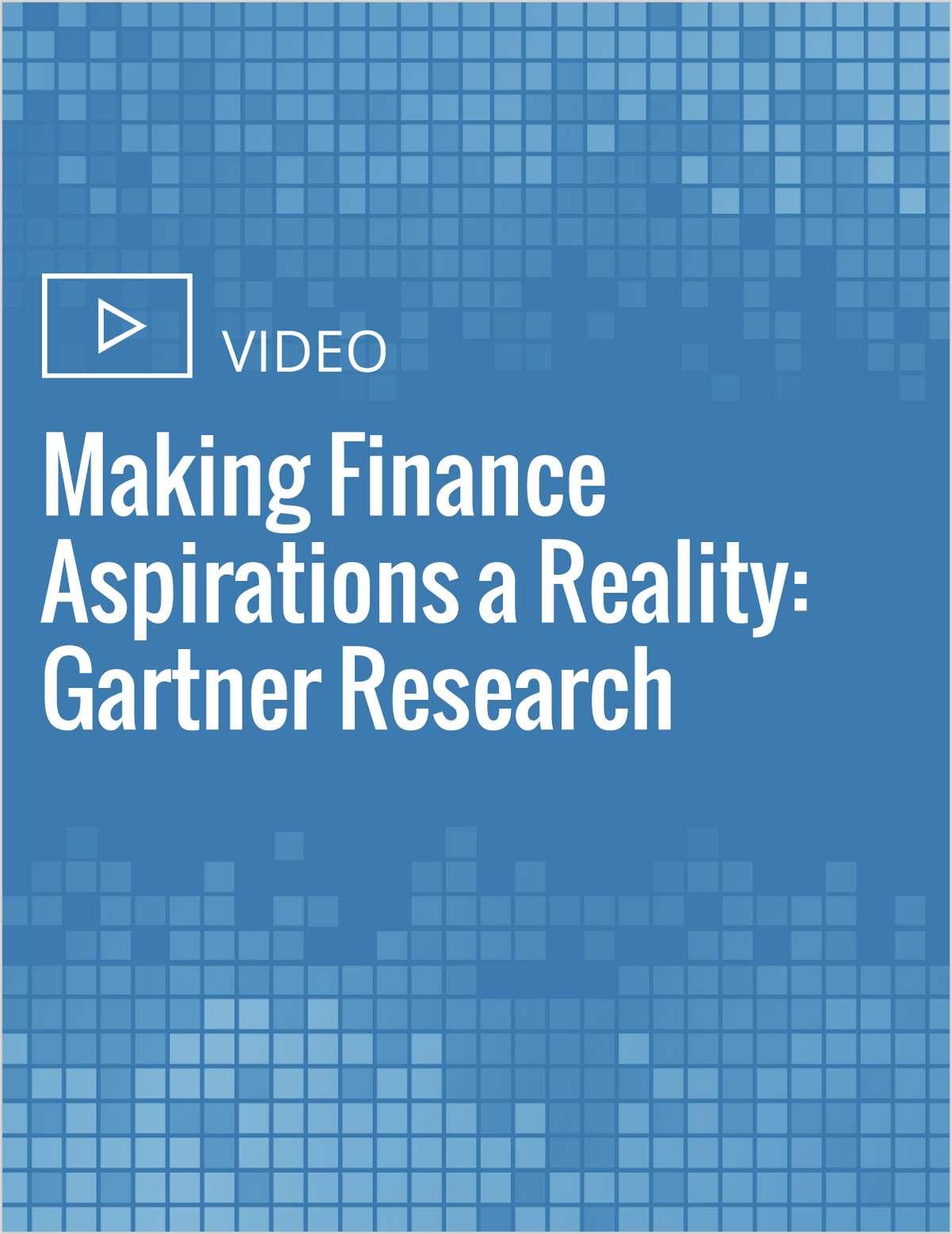 Making Finance Aspirations a Reality: Gartner Research