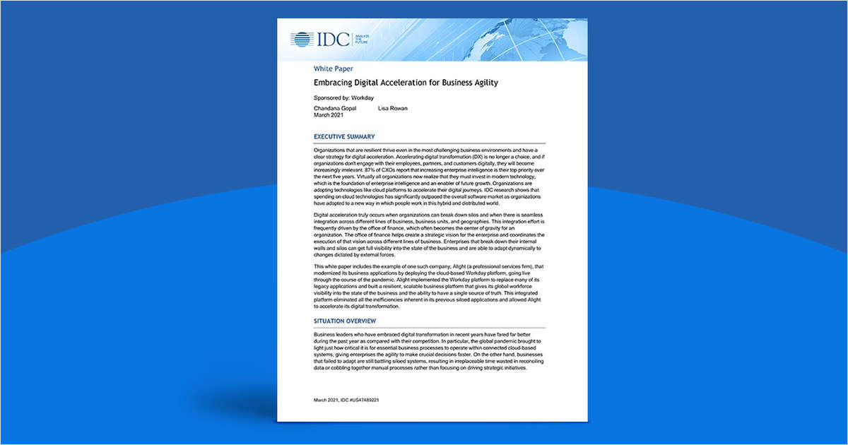 IDC: Alight on Embracing Digital Acceleration for Business Agility