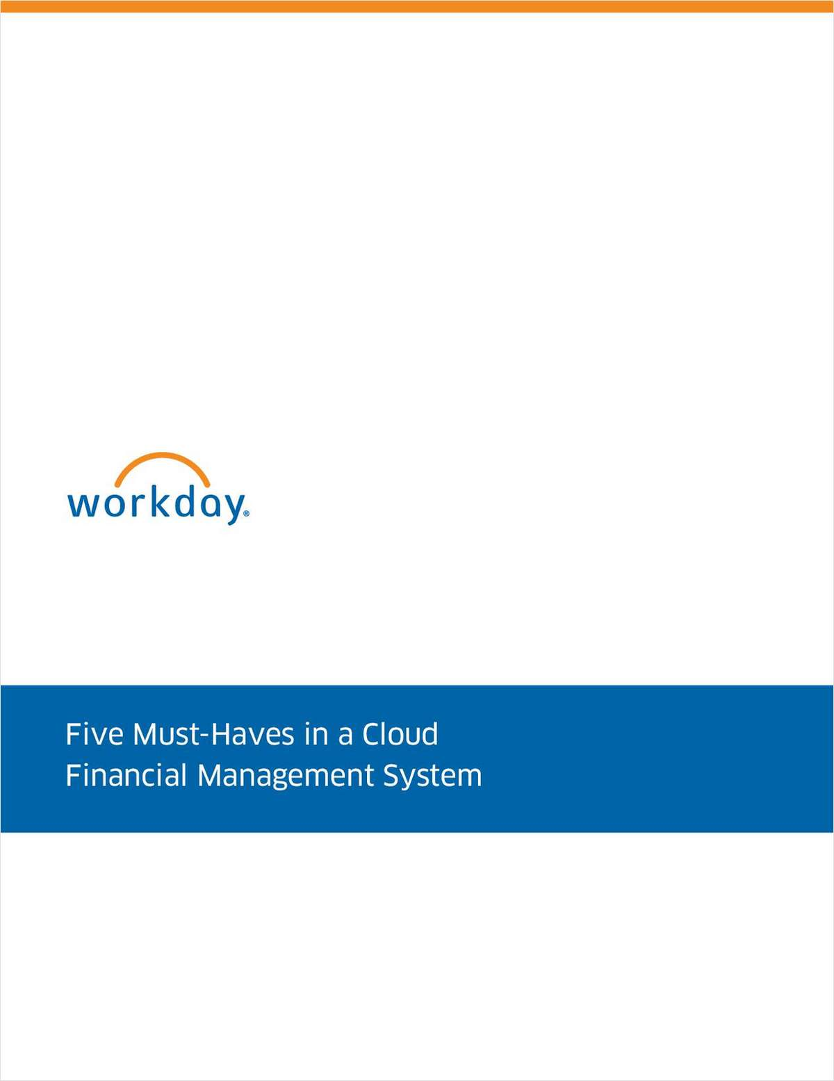 Five Must-Haves in a Cloud Financial Management System