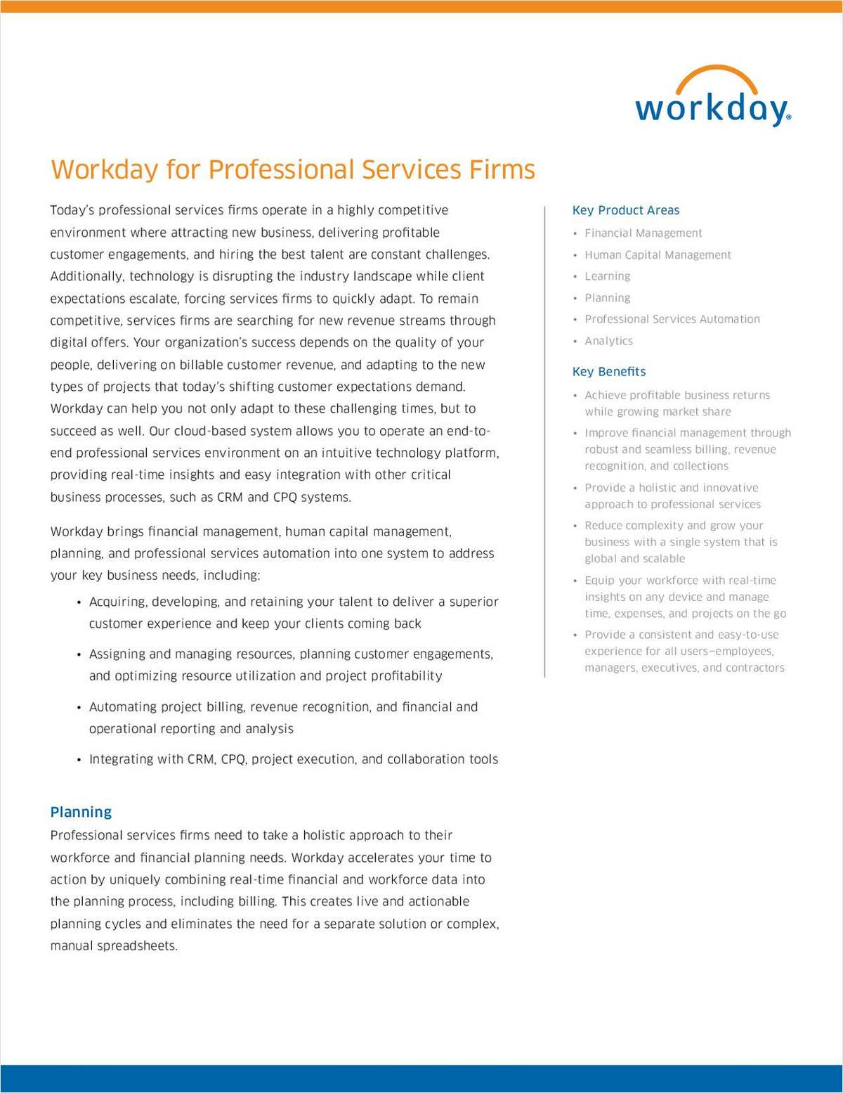 Workday for Professional Services Firms