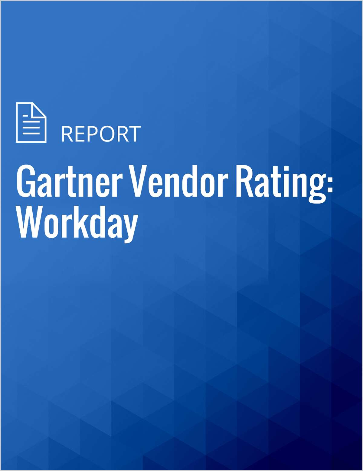 Gartner Vendor Rating: Workday