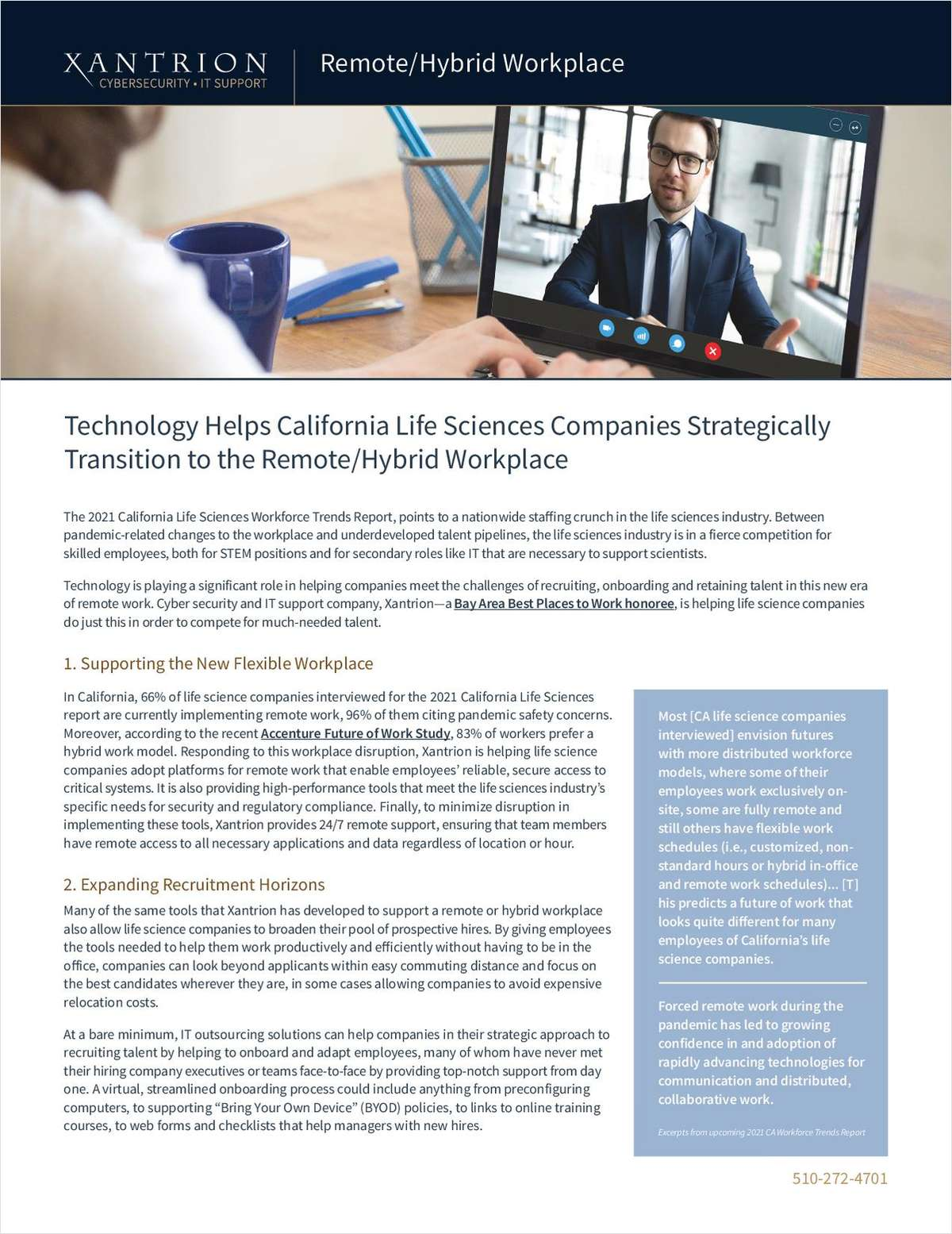Technology Helps California Life Sciences Companies Strategically  Transition to the Remote/Hybrid Workplace