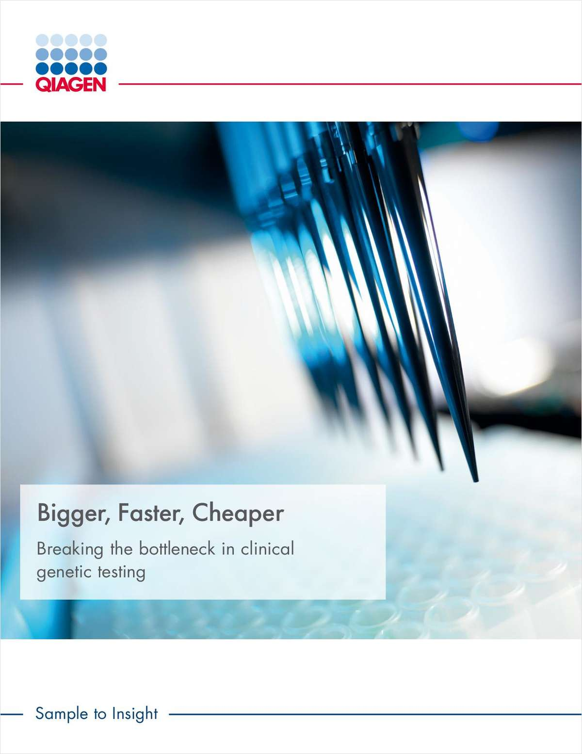 Bigger, Faster, Cheaper: Breaking the Bottleneck in Clinical Genetic Testing