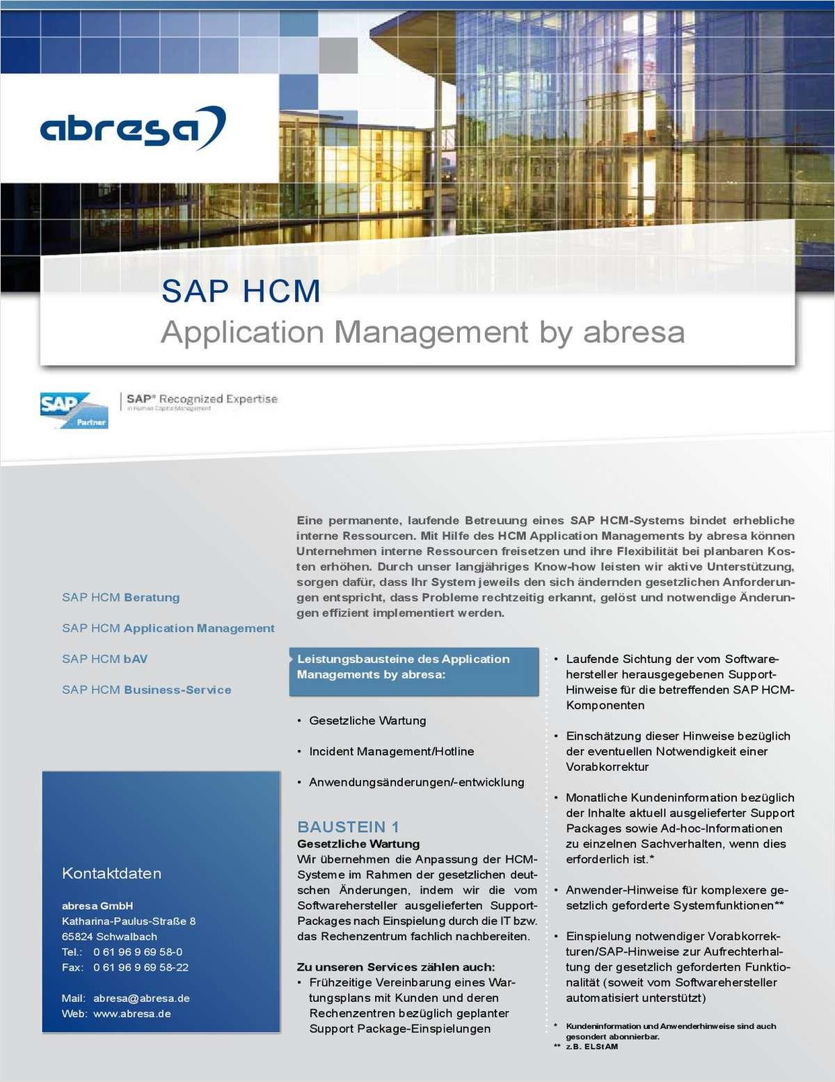 Application Management für Ihr SAP HCM System