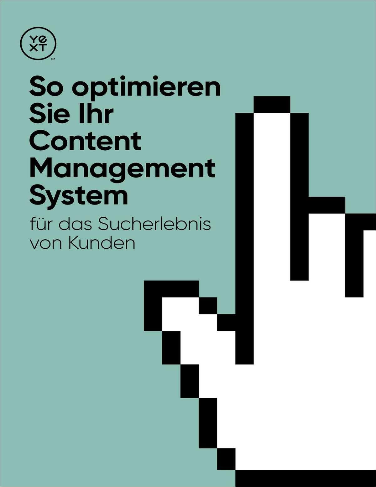 So optimieren Sie Ihr Content Management System für das Sucherlebnis von Kunden