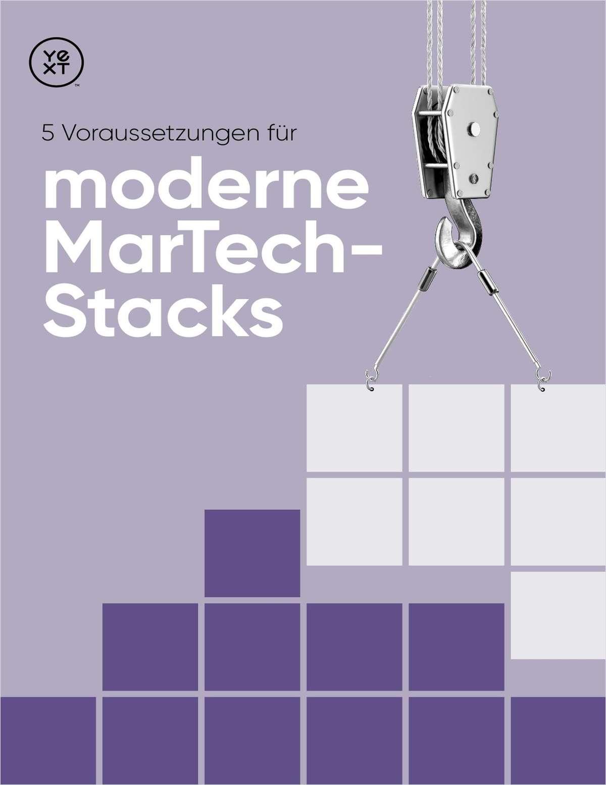 5 Voraussetzungen für  moderne MarTech -Stacks