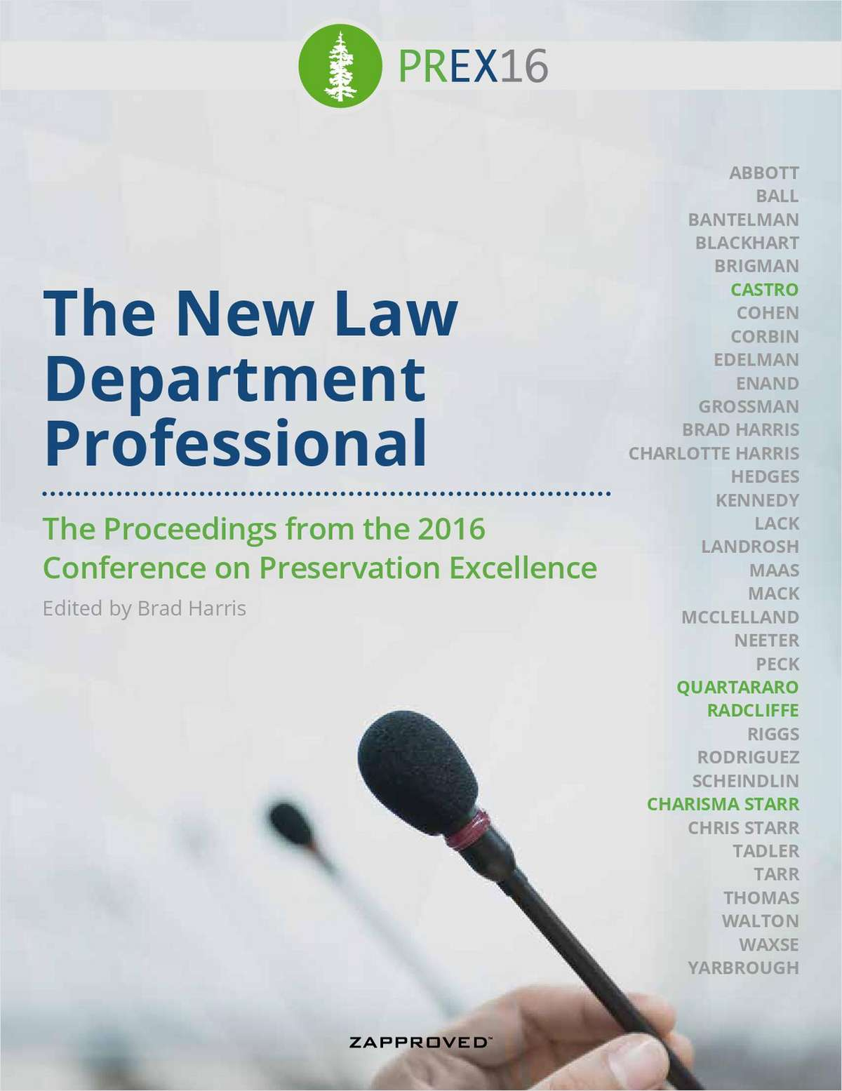 PREX 2016 Practical - The New Law Department Professional