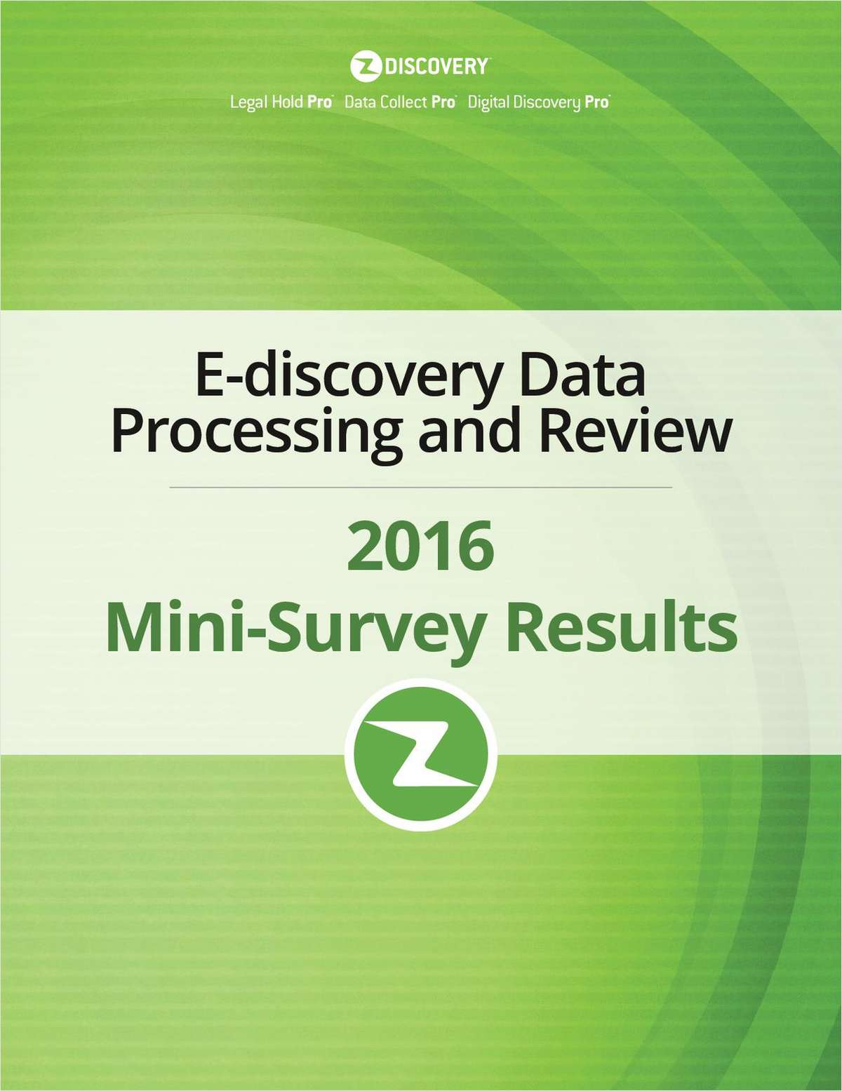 2016 E-Discovery Data Processing Benchmark Report