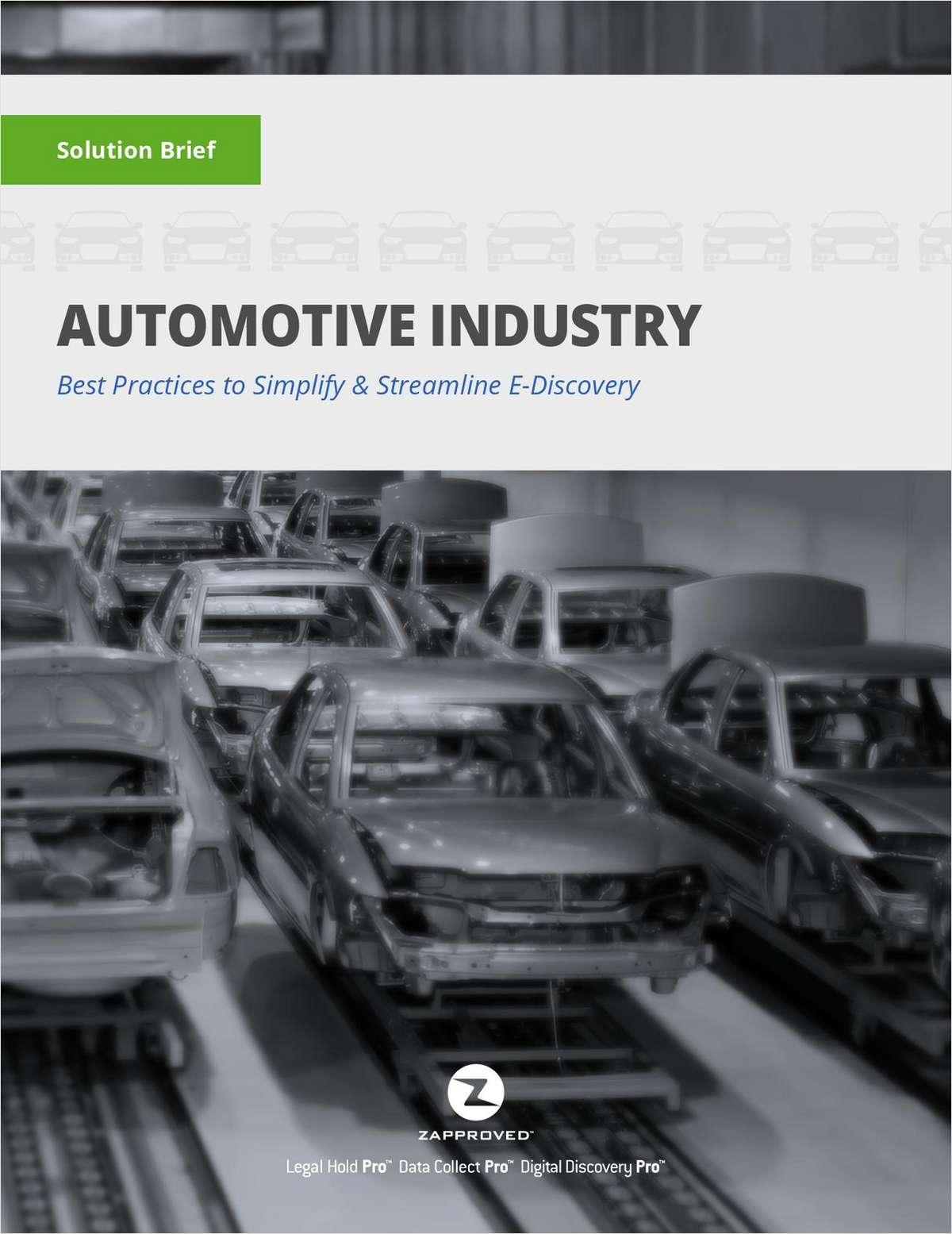2017 Solution Brief: Automotive Industry