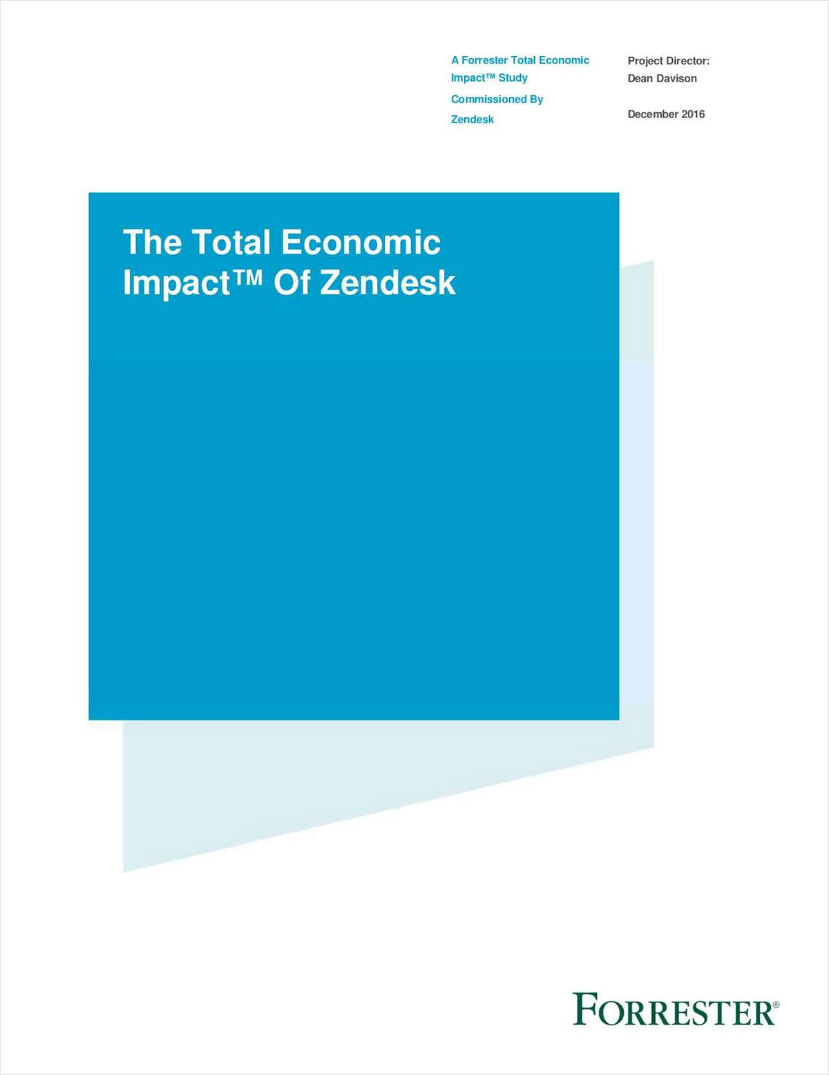 Forrester TEI Report Examines the ROI of Zendesk