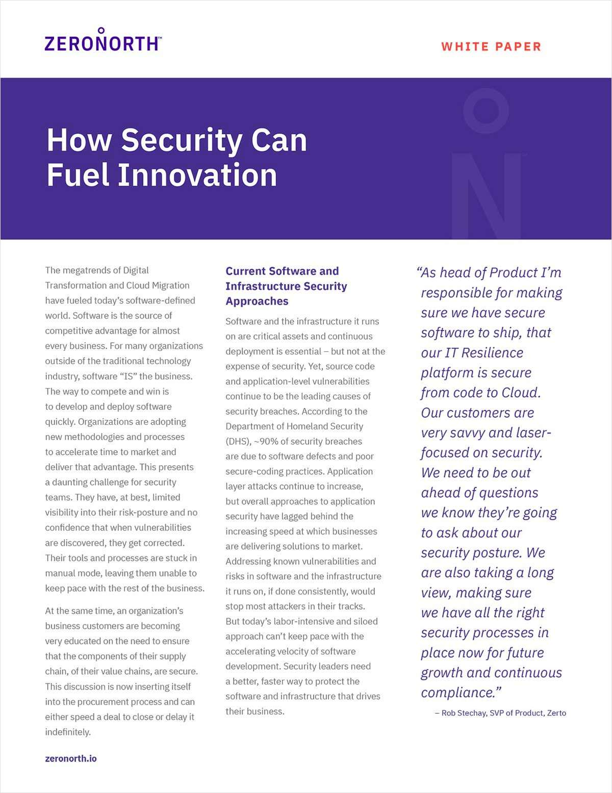 How Security Can Fuel Innovation