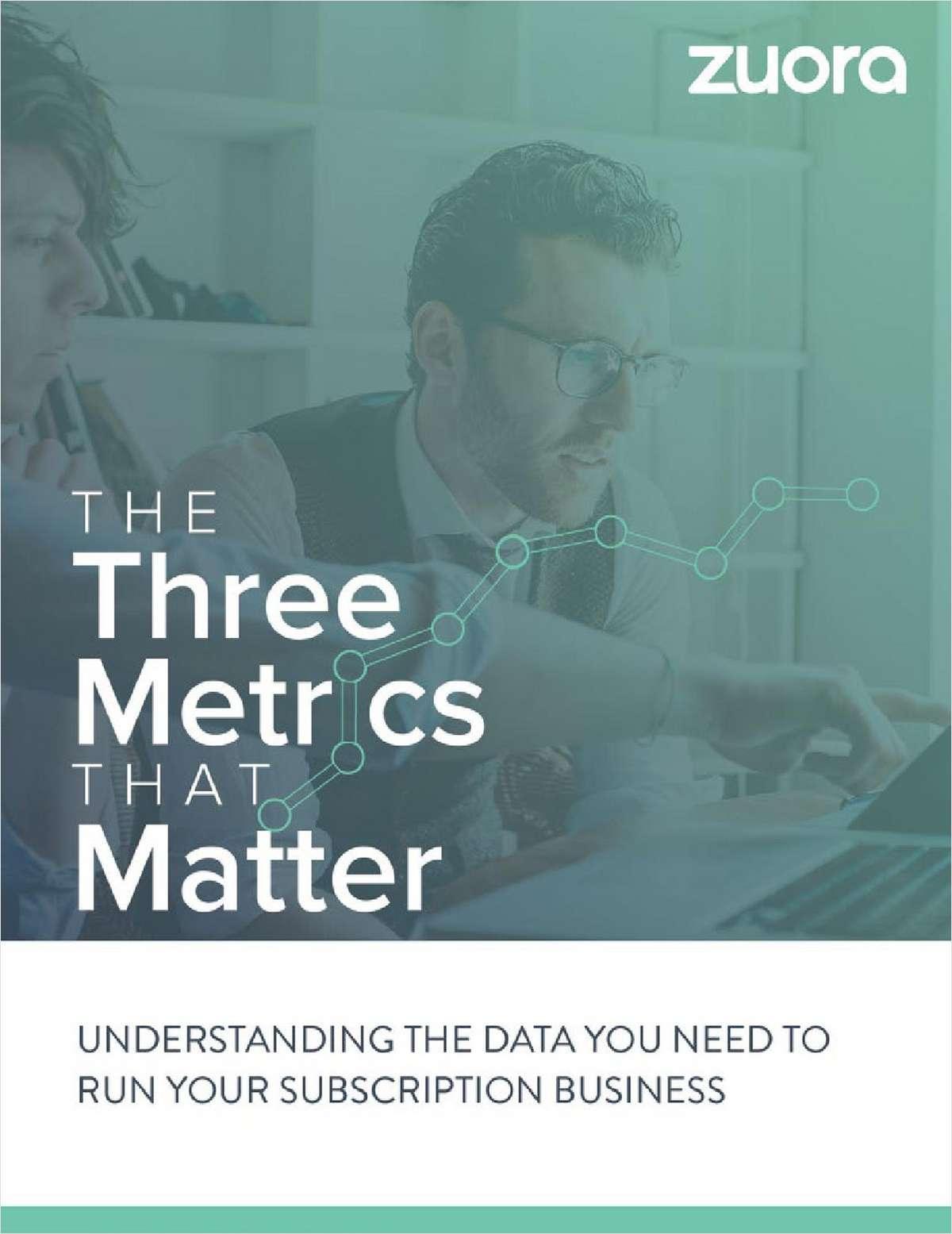 The SaaS Metrics that Matter
