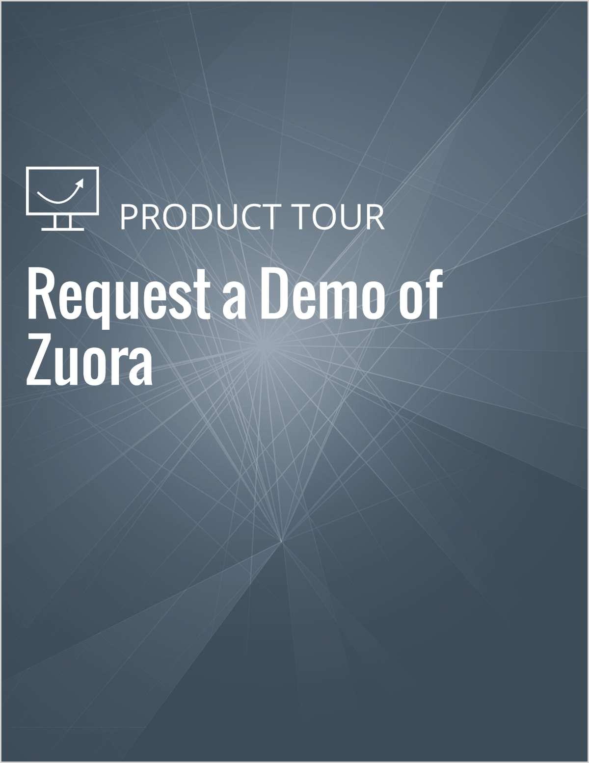 Request a Demo of Zuora